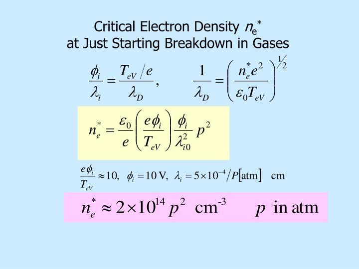 Critical Electron Density