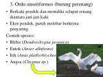 3 ordo anseriformes burung perenang