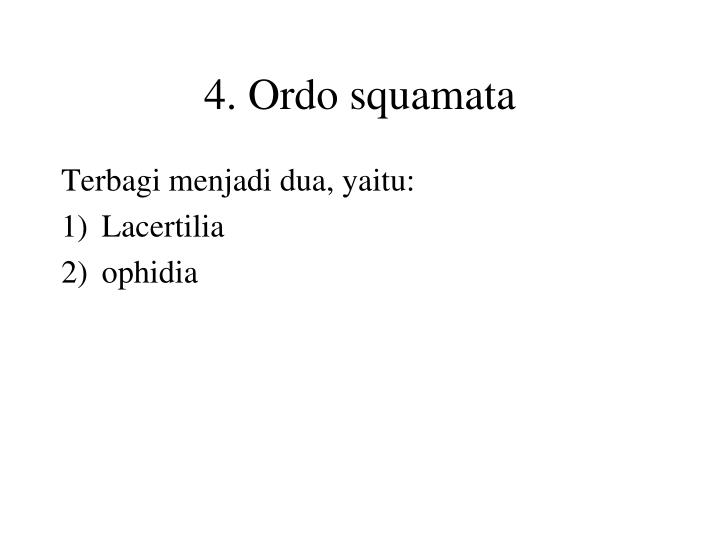4. Ordo squamata