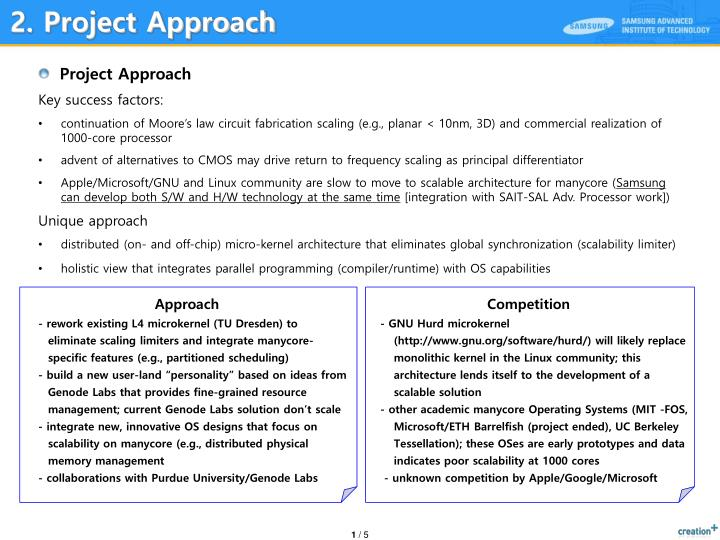 2. Project Approach