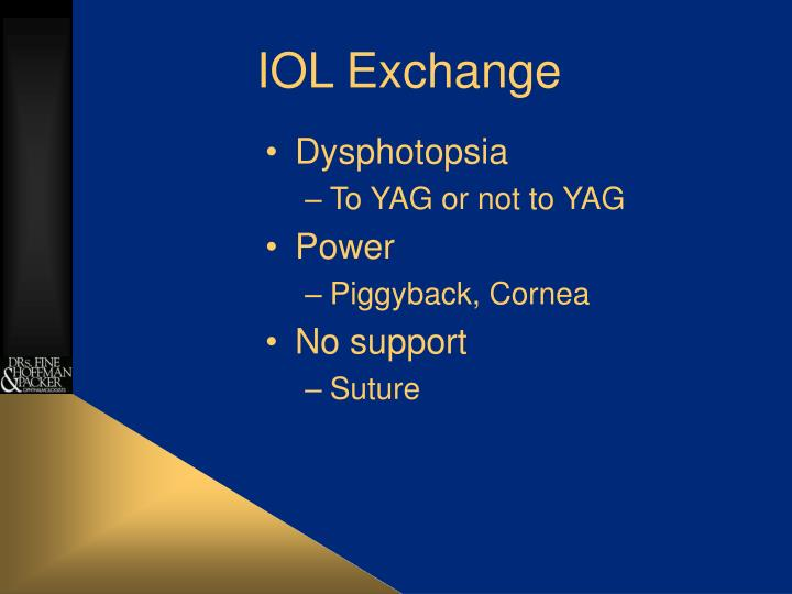 IOL Exchange