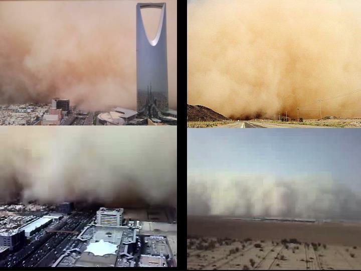 On the dust storms over ksa