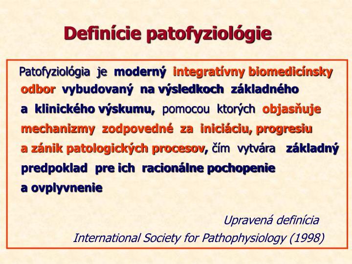 Definície patofyziológie