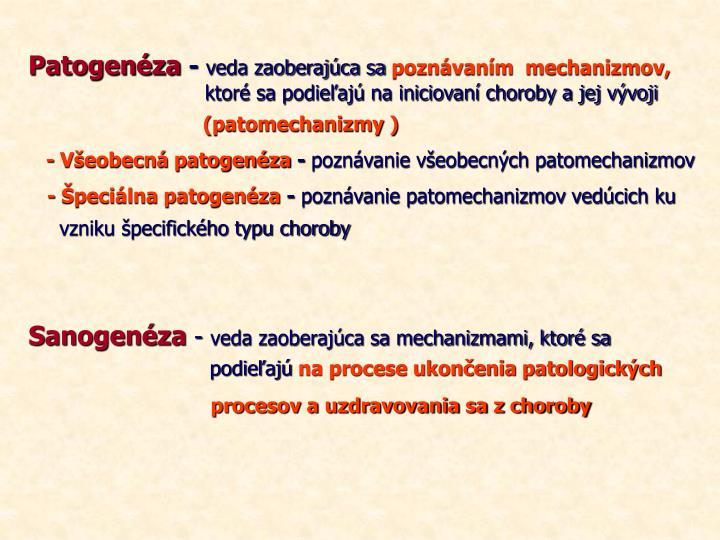 Patogenéza