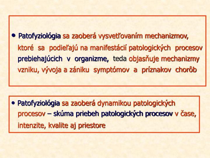 Patofyziológia