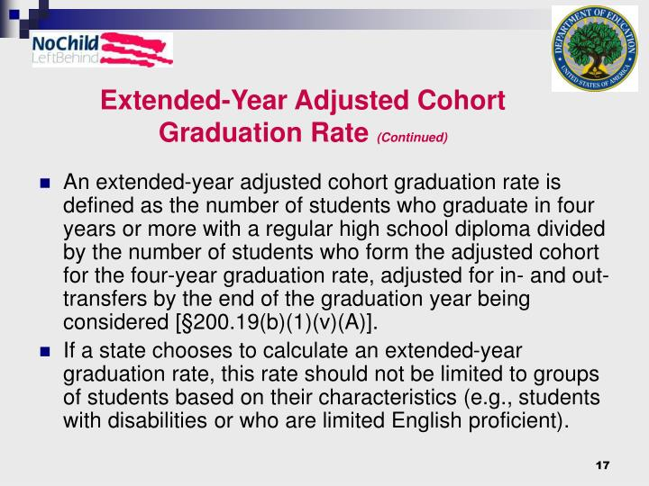 Extended-Year Adjusted Cohort Graduation Rate