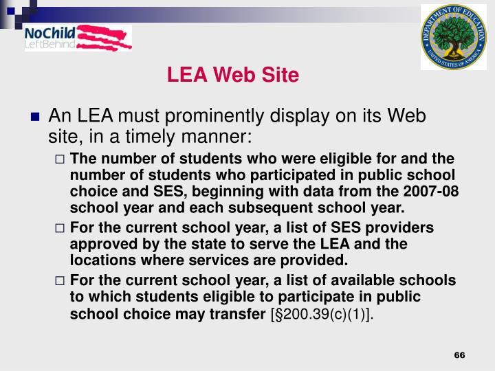LEA Web Site