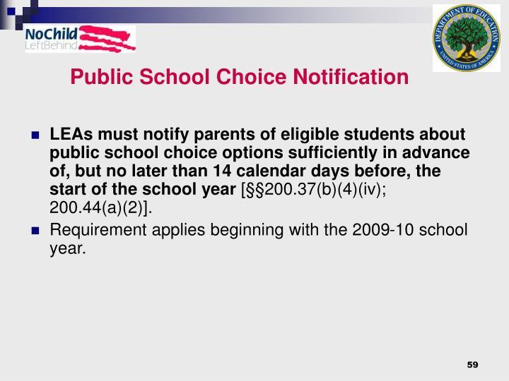 Public School Choice Notification