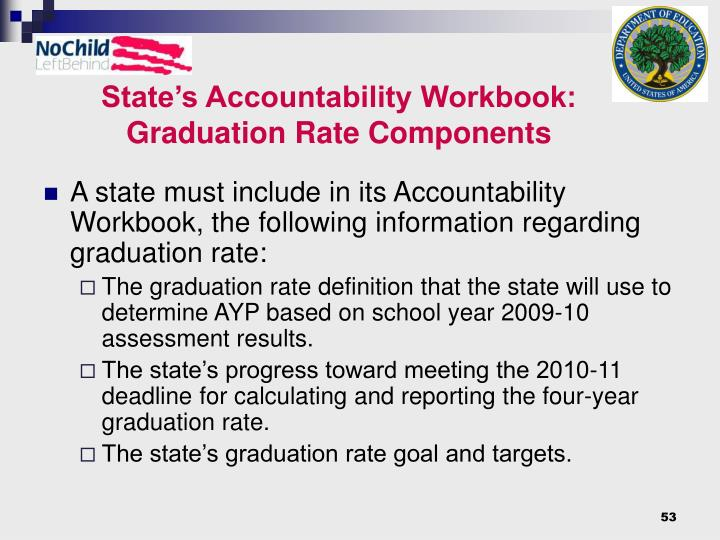 State's Accountability Workbook: Graduation Rate Components