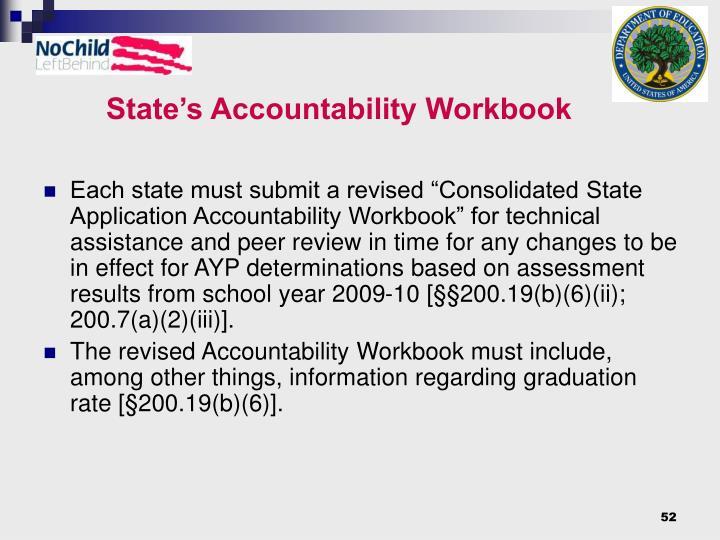 State's Accountability Workbook