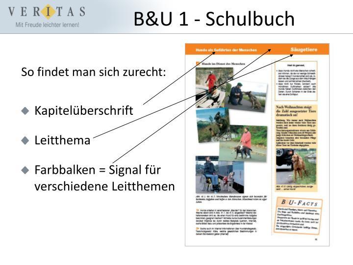 B&U 1 - Schulbuch