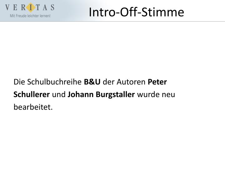 Intro-Off-Stimme
