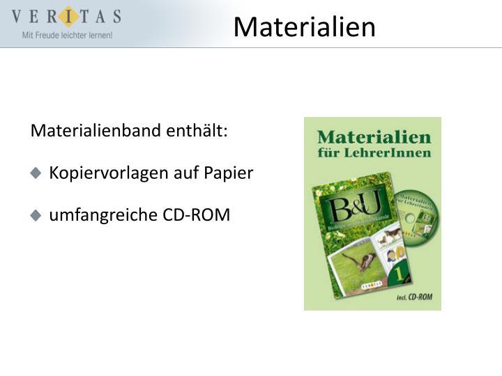 Materialienband enthält: