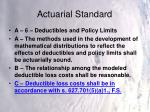 actuarial standard10