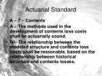 actuarial standard11