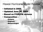 hawaii hurricane model review