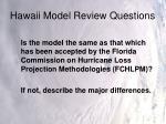 hawaii model review questions