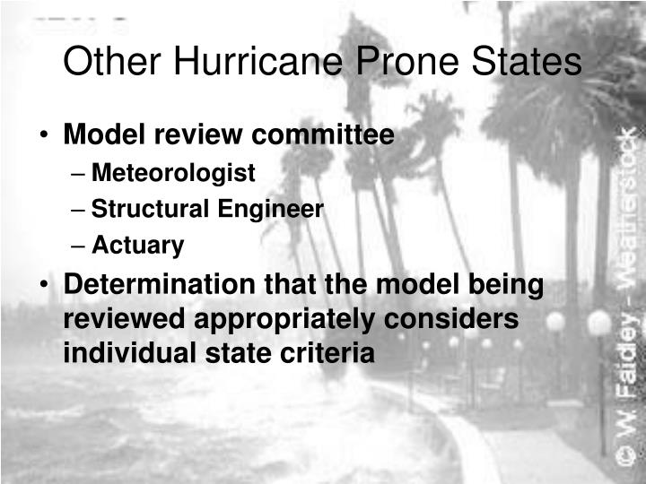 Other Hurricane Prone States