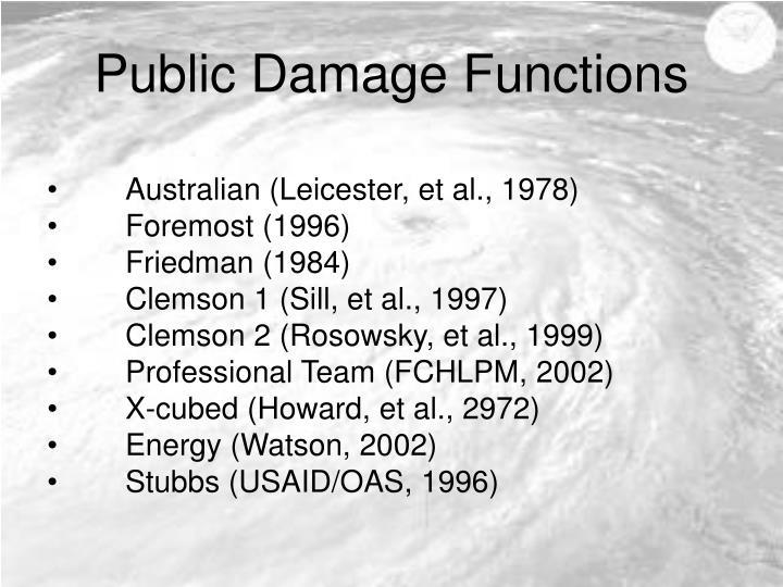 Public Damage Functions