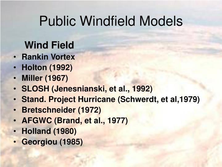 Public Windfield Models