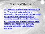 statistical standards