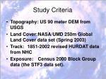 study criteria