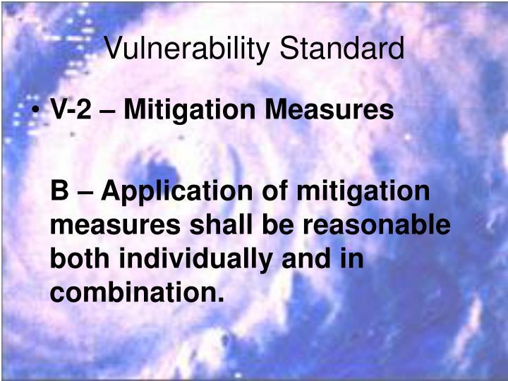 Vulnerability Standard