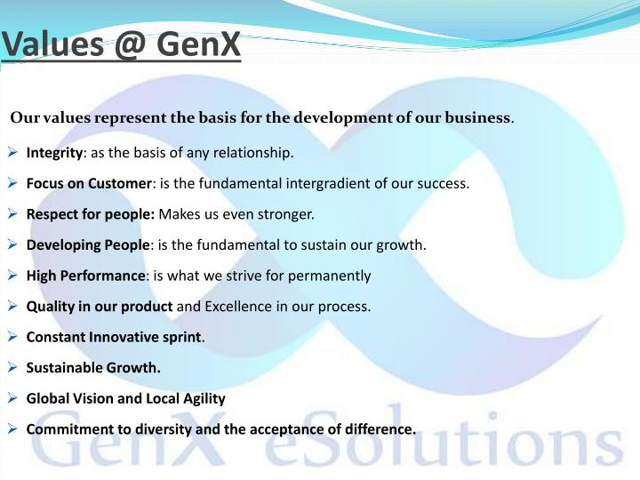 Values @ GenX