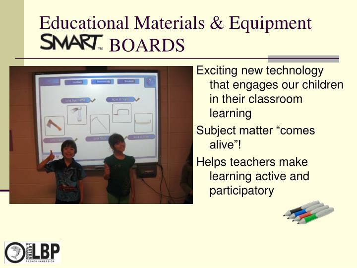Educational Materials & Equipment