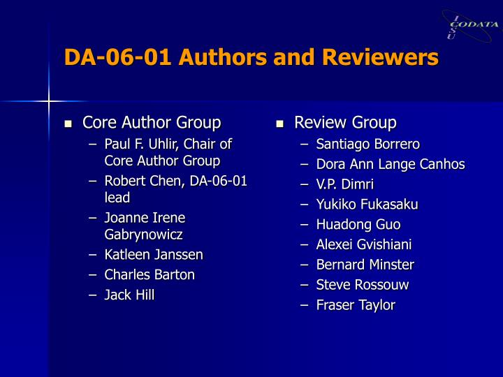 Core Author Group