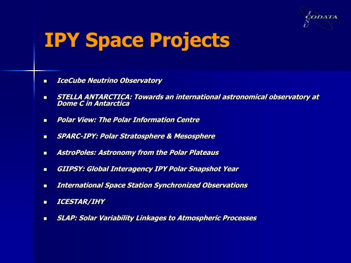 IPY Space Projects
