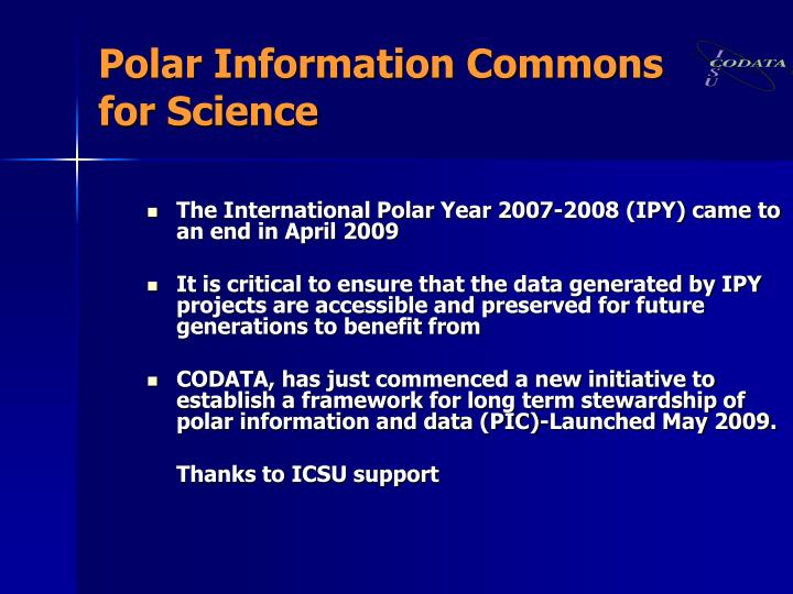 Polar Information Commons