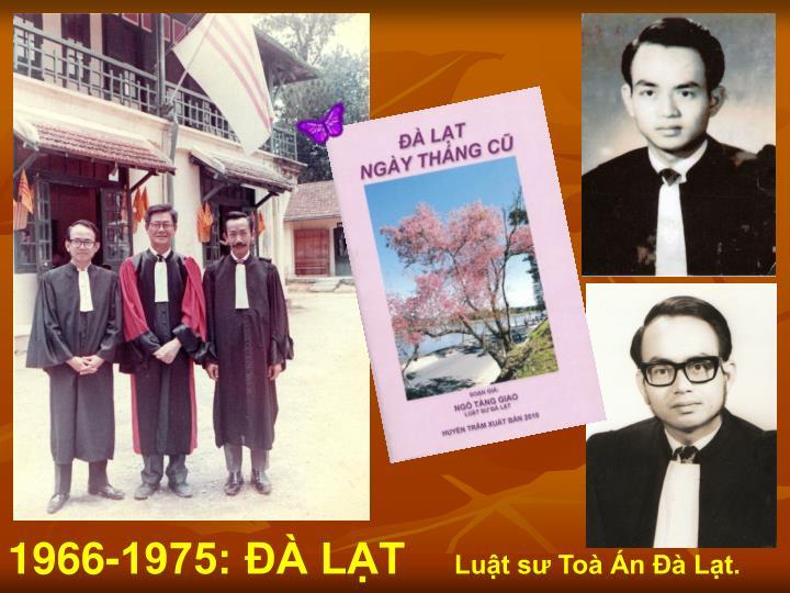 1966-1975: ĐÀ LẠT