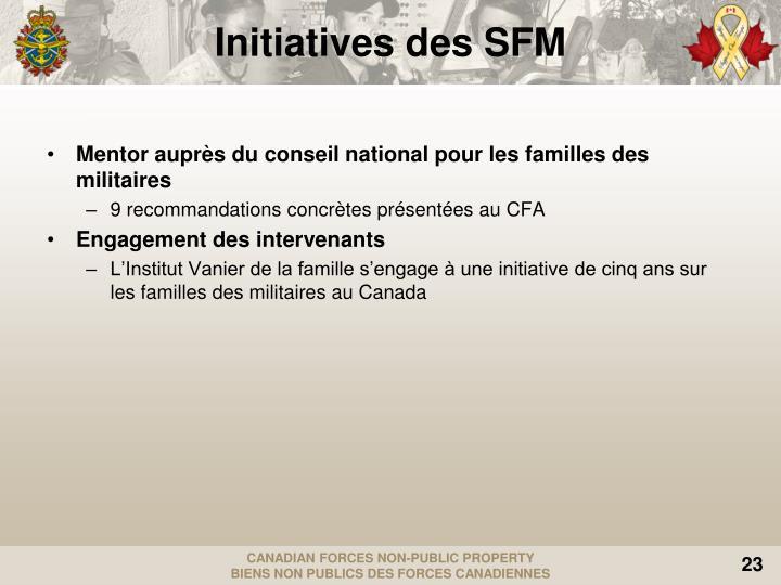 Mentor auprès du conseil national pour les familles des militaires