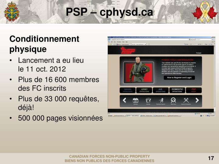 PSP – cphysd.ca