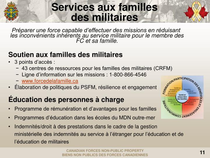 Services aux familles