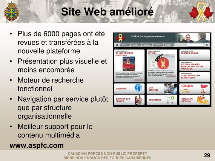 Site Web amélioré