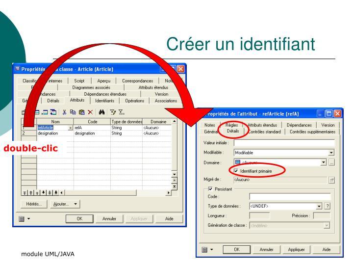 Créer un identifiant
