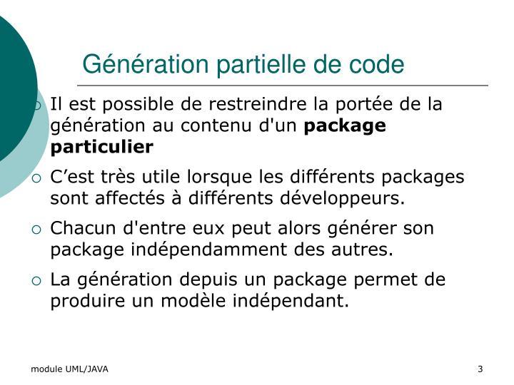 Génération partielle de code