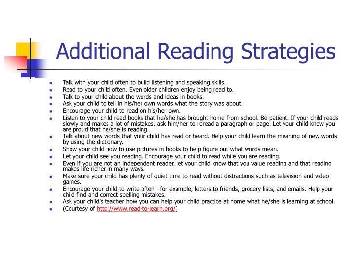 Additional Reading Strategies
