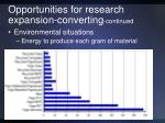 opportunities for research expansion converting continued1