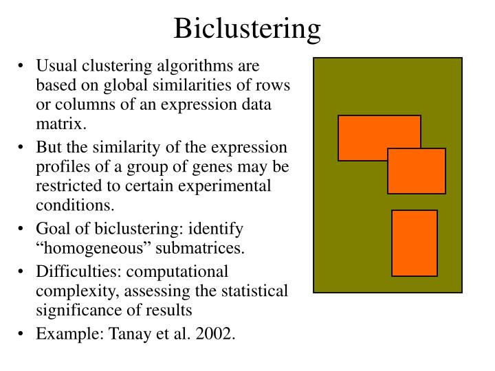 Biclustering