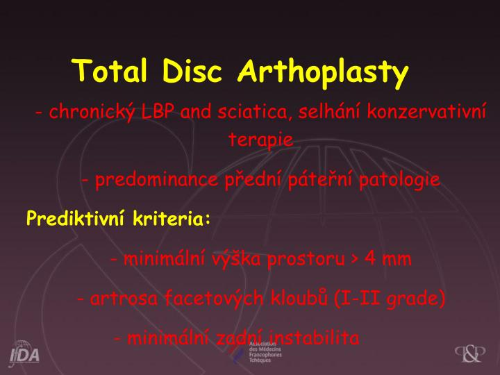 Total Disc Arthoplasty