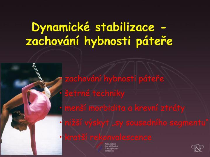 Dynamické stabilizace -
