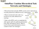 ontoplan combine hierarchical task networks and ontologies