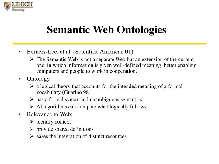 Semantic Web Ontologies