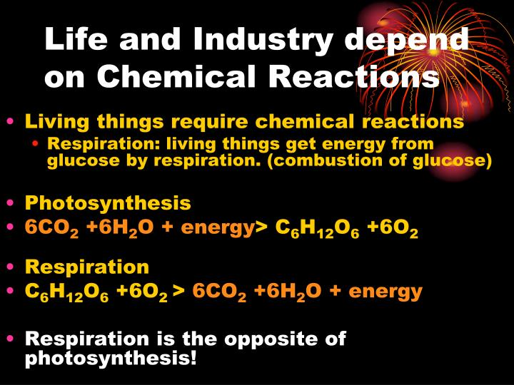 Life and Industry depend on Chemical Reactions