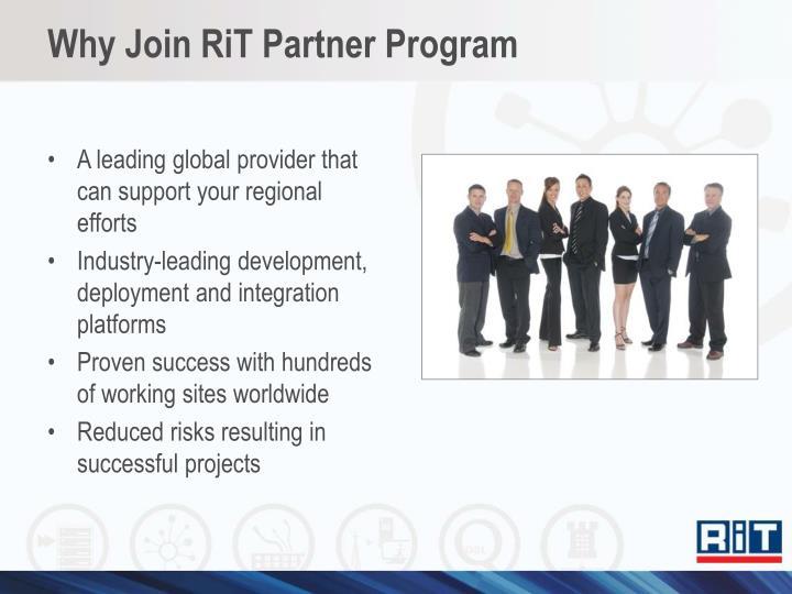 Why Join RiT Partner Program
