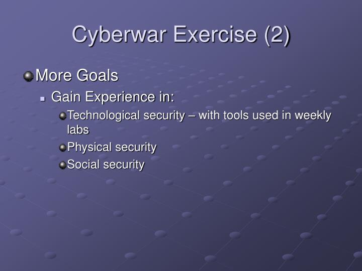 Cyberwar Exercise (2)