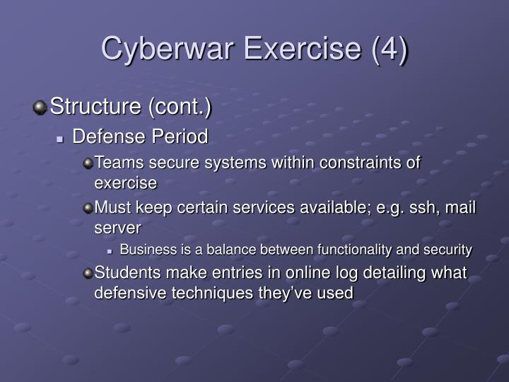 Cyberwar Exercise (4)